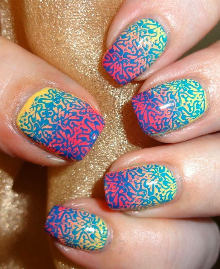 Funky Young Nails Stamping Component - Nail Art Ideas - morihati.com