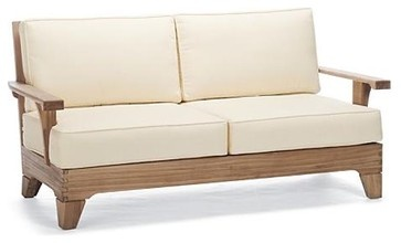 San Luca Outdoor Sofa with Cushions, Patio Furniture traditional outdoor sofas