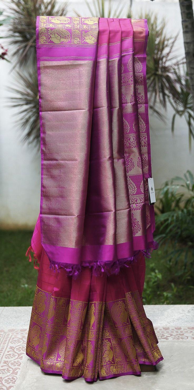 Lakshmi Handwoven Kanjivaram Silk Sari 000228 - Brands / Lakshmi - Parisera