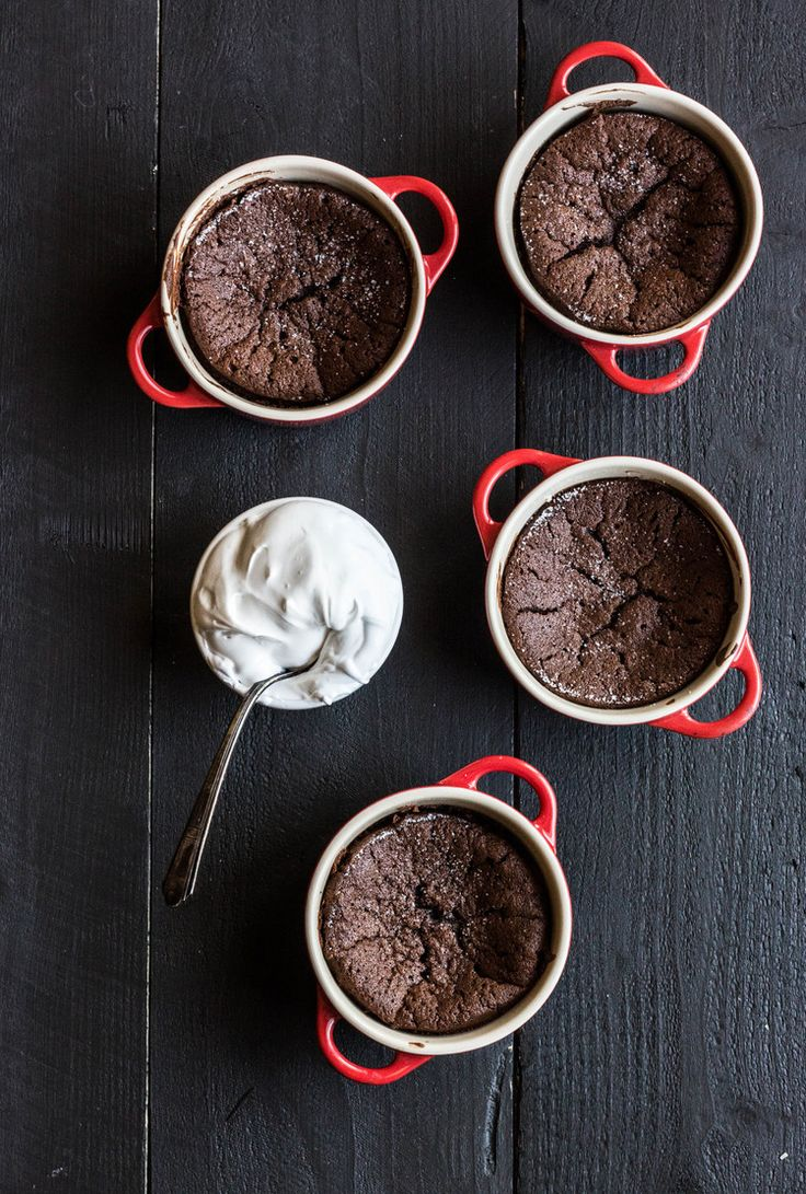 Fallen Chocolate Cake with Marshmallow Cream Sauce — The Whole Bite