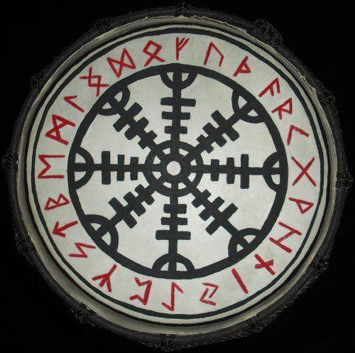 Runic drum