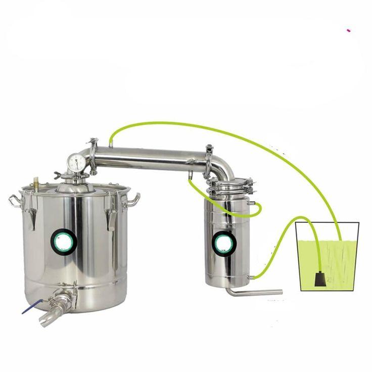 70L Stainless Water Alcohol Distiller Home Brew Kit Wine Making Boiler