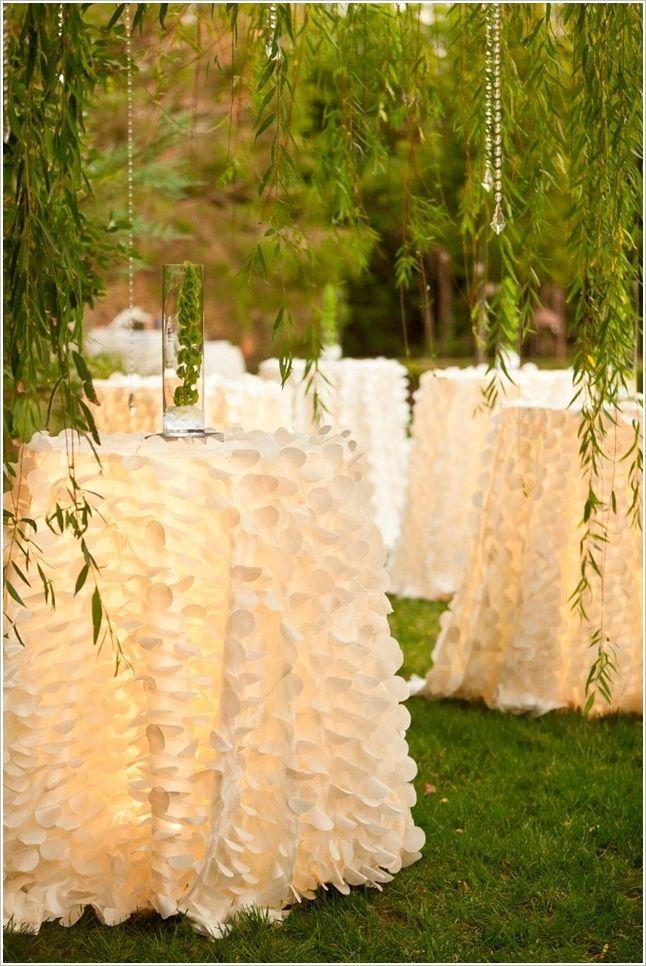 White Ruffled Skirts for Wedding Tables Ruffled