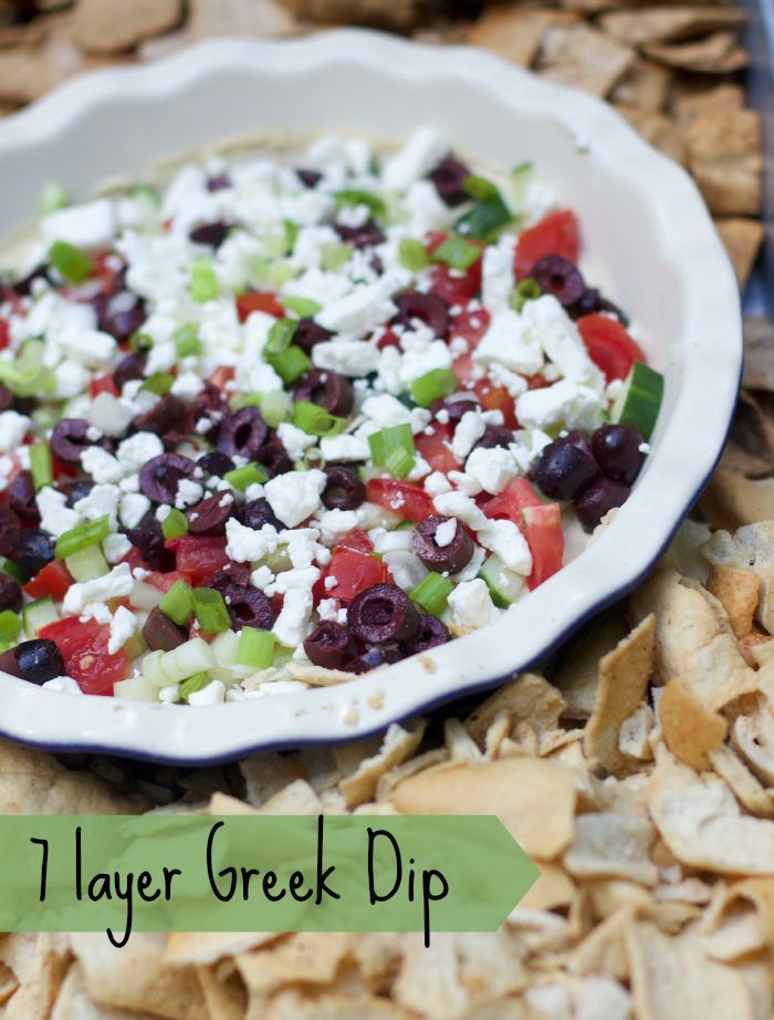 98 best greek food recipes images on pinterest greek recipes 7 layer greek dip is the perfect appetizer recipe a healthy dip served with pita forumfinder Choice Image