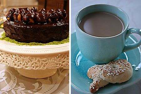 Profiterollü Pasta ve Mahlepli Kurabiye