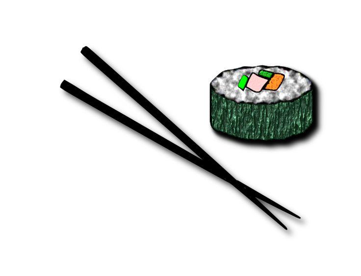 Chopsticks Sushi Clipart