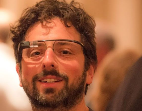 Thomas Hawk, an outstanding photographer, was at the Dinner in the Dark benefit for the Foundation Fighting Blindness where Sergey Brin was supporting his wife.  Google's Sergey Brin was wearing a pai