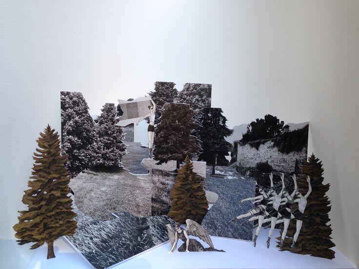 La caduta, 2014, tecnica mista, cm 33x58x38