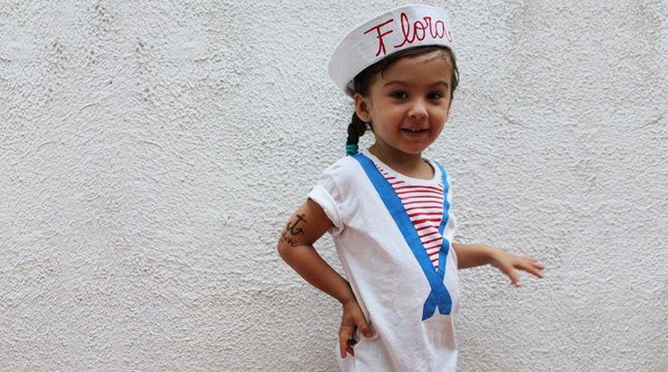 Matrosin Kostüm für Kinder zum selber machen