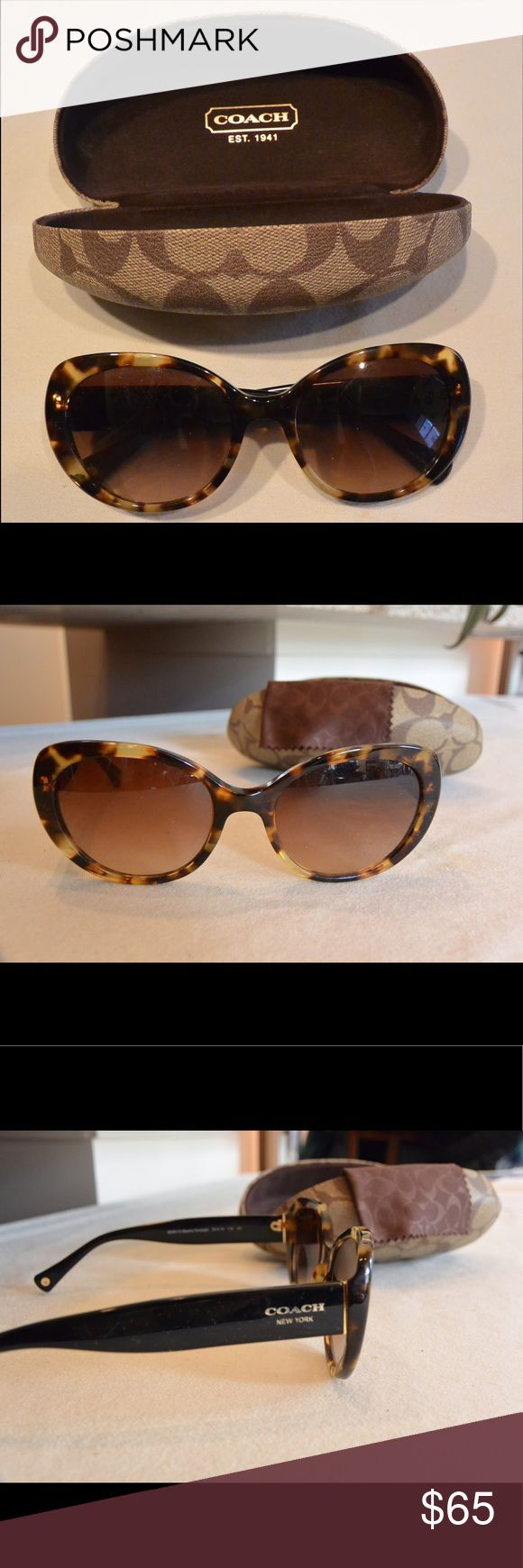 Coach Tortoise Shell Sunglasses Coach sunglasses with tortoise shell frames, only worn a few times - in great condition. Comes with case. Coach Accessories Sunglasses