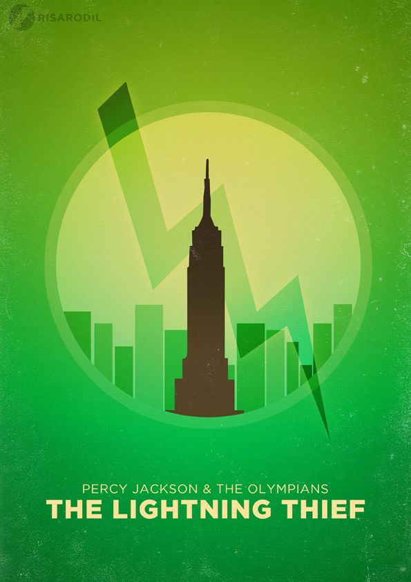Percy Jackson The Lightning Thief Minimalist Movie Poster by Risa Rodil