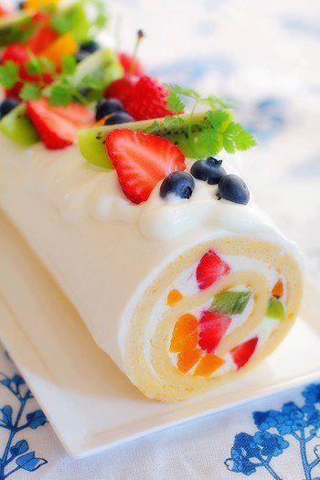 nice fruit roll cake