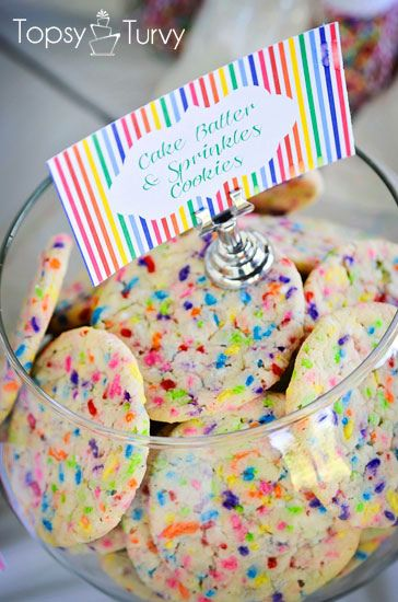an easy recipe for cake batter sprinkle cookies made with cake mix