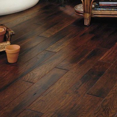 "Anderson Floors Lansing Hickory 5"" Engineered Hickory Hardwood Flooring in Valley"
