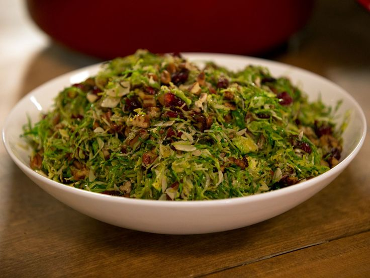Brussels Sprouts with Pecans and Cranberries recipe from Alton Brown via Food Network