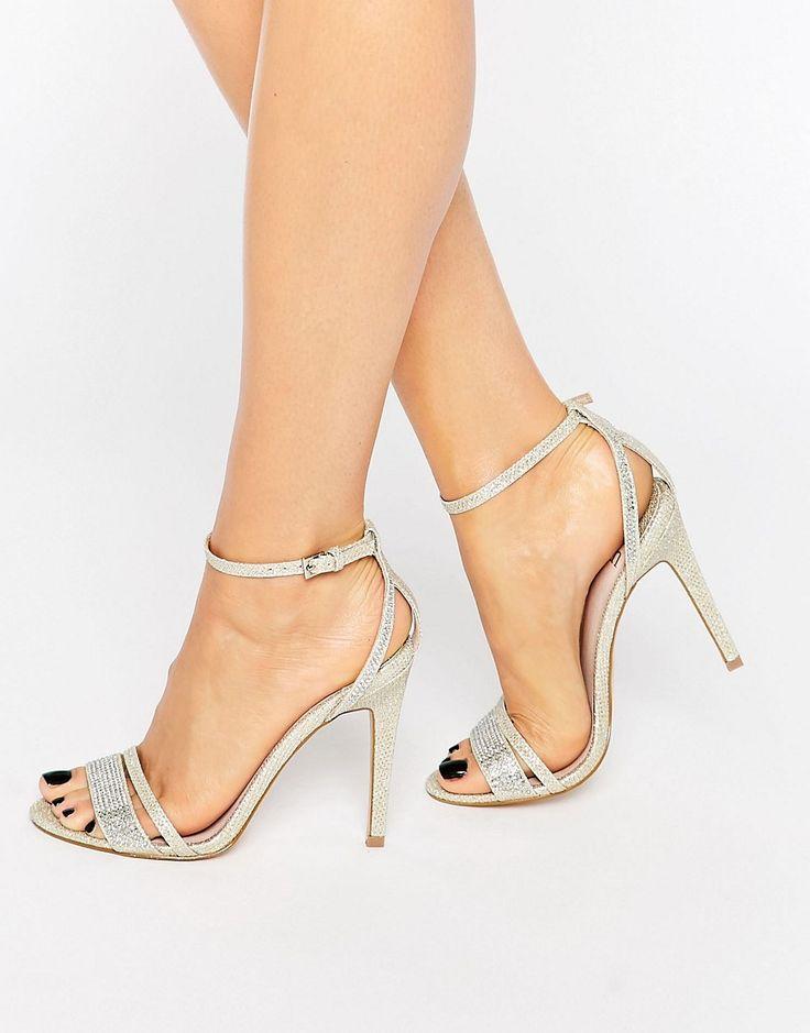 zapatos plateados de fiesta comodos