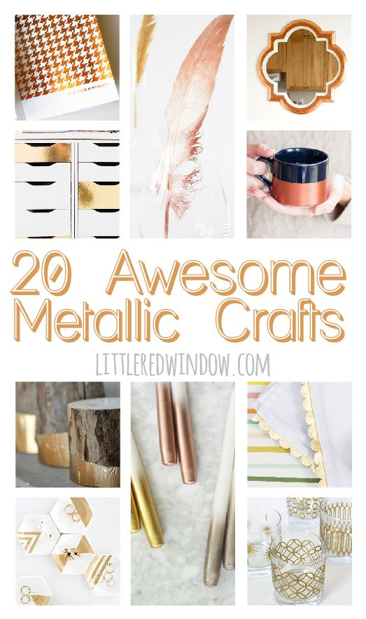 20 Awesome Metallic Crafts That Shine!  | littleredwindow.com