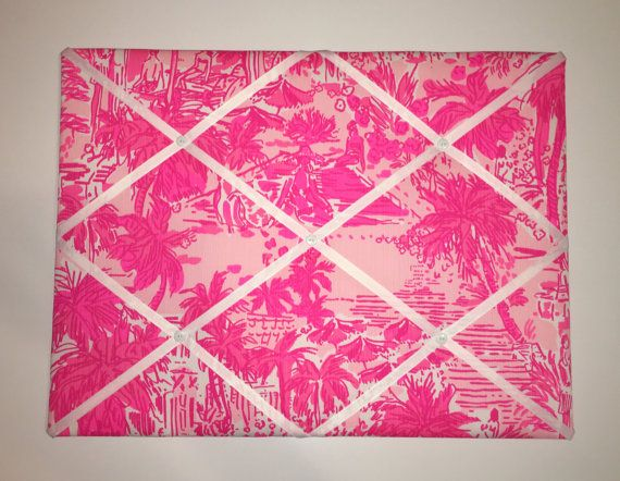 New Memo Board Made With Lilly Pulitzer Resort Cheeky Melon Rule Breakers  Fabric, 2 Sizes