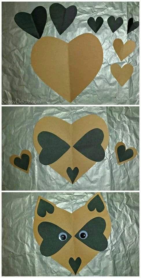 Mapache de corazón