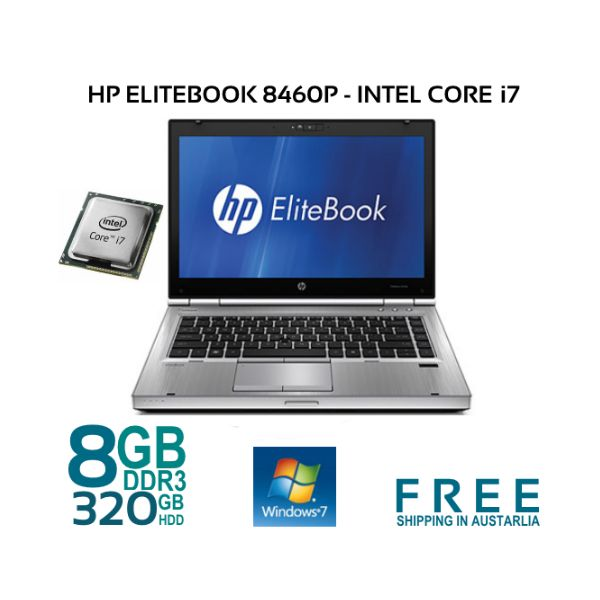 EliteBook 8460p is the smallest model in the EliteBook lineup, with a 14-inch screen. It is equipped with a Core i7-2620M processor @ 2.70GHZ