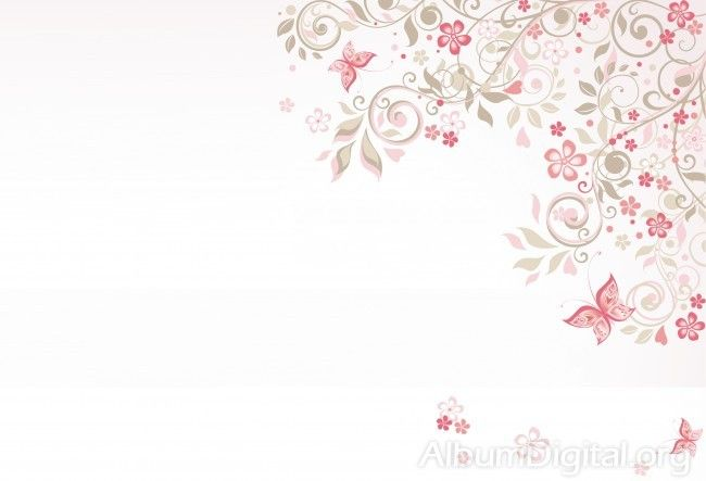 fondo comuni243n para 225lbum classic flores y mariposas