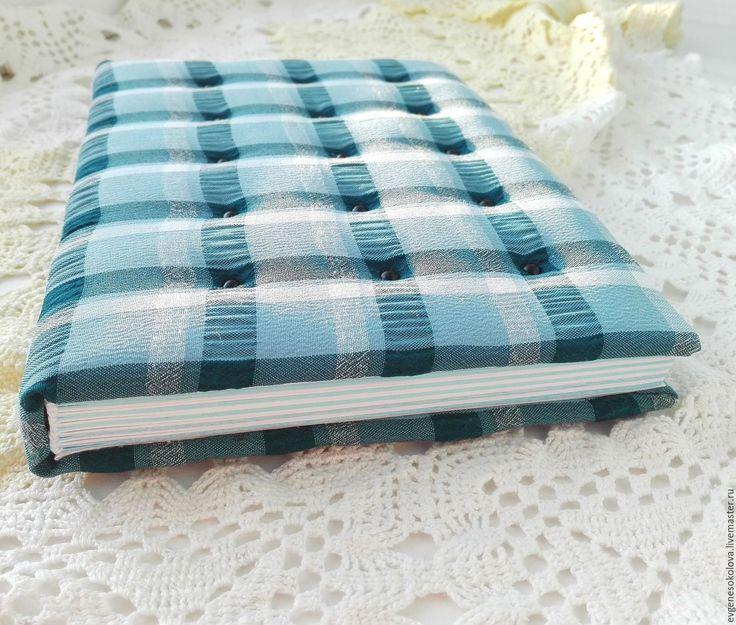 Купить Блокнот для записок,зарисовок, рисунков, скетчбук - голубой, в клеточку, клетчатый, блокнот