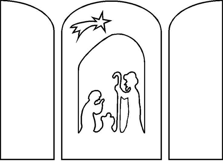 736 544 sablonok for Nativity cut out patterns wood