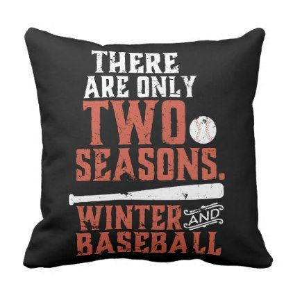 Grunge and Distressed Funny Baseball Quote Throw Pillow - winter gifts style special unique gift ideas