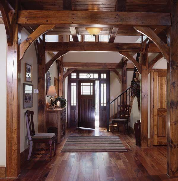 A Fantastic Timber Frame Interior Entry Timber-frame