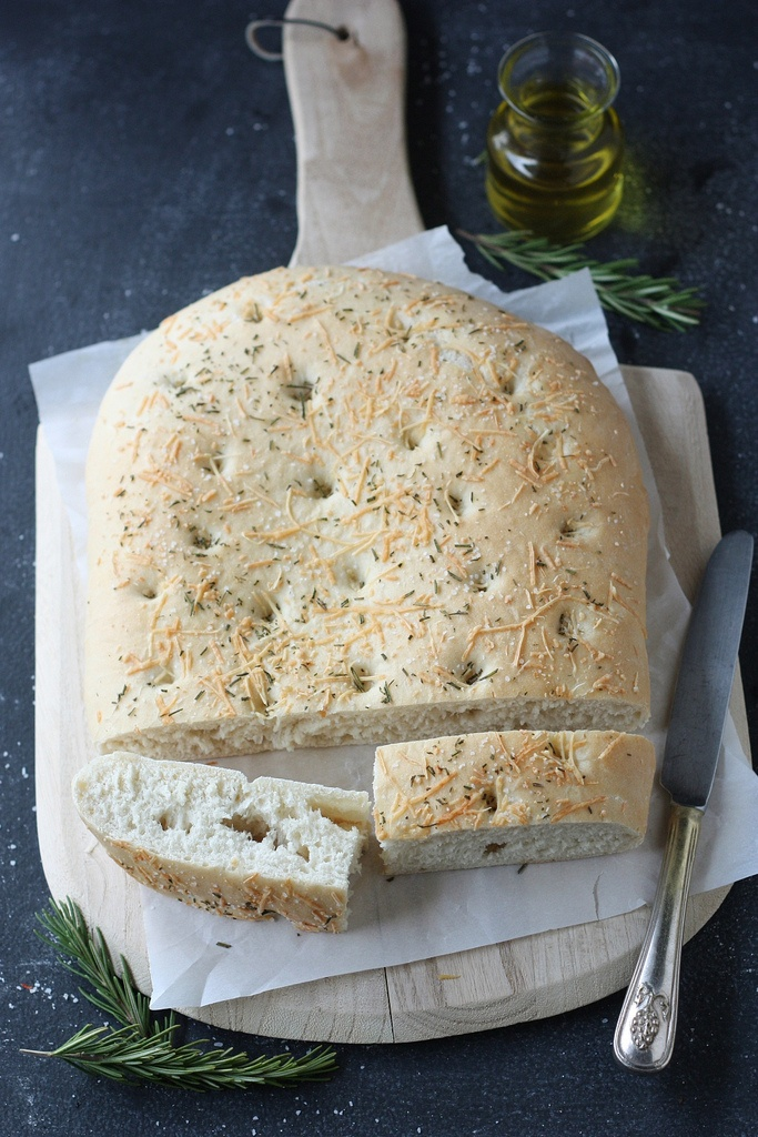 Rosemary and parmesan focaccia bread