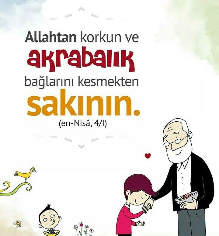 Allahtan kork!  #Allah #bağ #akraba #komşu #dayı #amca teyze #hala #enişte #yenge #dede #anane #babane #kuzen #islam #müslüman #hayırlıbayramlar #ilmisuffa
