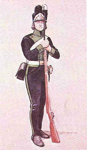 The Polish Army in 1789-1794 years: The private soldier of Crown Infantry Regiment of the Queen Hedwig (4th).