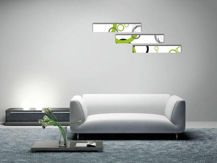 Interior Wall Clock Circle Home Decor, Modern Luxury 3pcs Framed Wall Art   #LEMONART #ArtDeco