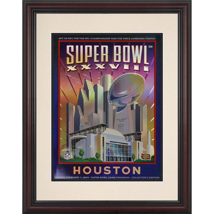 "Fanatics Authentic 2004 New England Patriots vs. Panthers 8.5"" x 11"" Framed Super Bowl XXXVIII Program - $59.99"