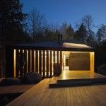 In Ontario, Canada a family of five required a four-season retreat to replace an existing 1950's small structure. Placed near a quiet lake in-between pine trees and rocks, Clear Lake Cottage seems to conquer the highest prize that a building can achieve: a perfect blend with its natural surroundings. An extended narrow volume with a …