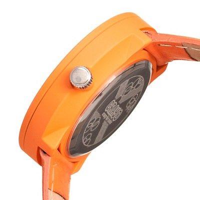 Women's Crayo Pleats Watch with 3D Pleat Pattern Dial - Orange