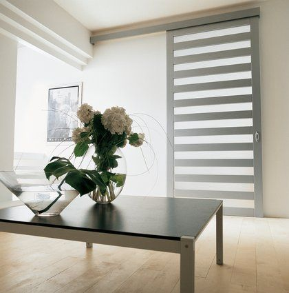 Puerta corredera interior moderno con lacado de aluminio con tratamiento al ácido panel deslizante
