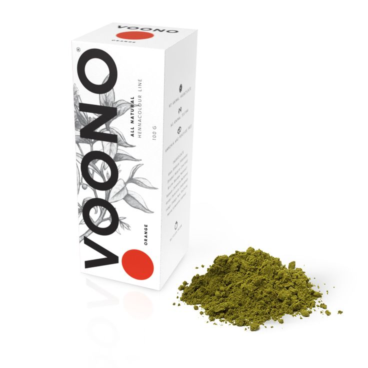 Barva na vlasy Orange 100% přírodní Voono. Využijte dopravu zdarma při nákupu nad 890 Kč nebo výdejní místo zdarma v naší kamenné prodejně NuSpring v Praze.