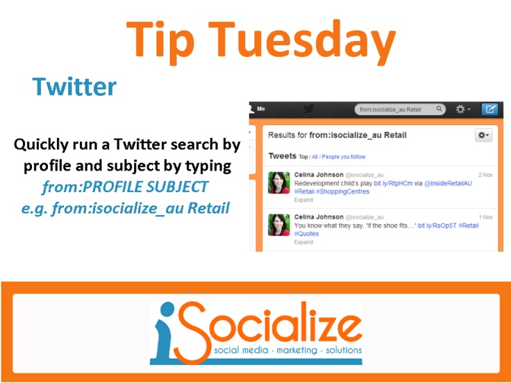 How to search by profile and subject on #Twitter. Like us on Facebook: https://www.facebook.com/isocialize for more social media tips each Tuesday.