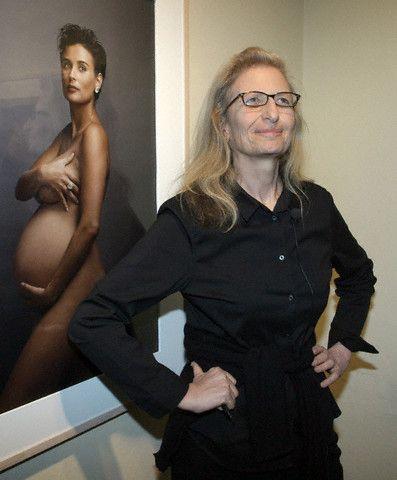 Энни Лейбовиц на своей выставке в Германии