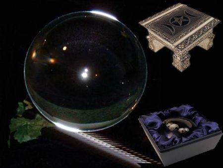 Kristallen bol + voet glas - 19-20 cm -
