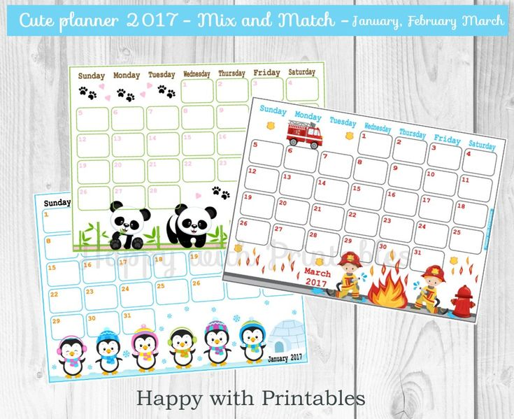 November Calendar Diy : Sale calendar printables cute planner mix and