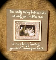 pregnancy announcement sonogram grandparents - Google Search