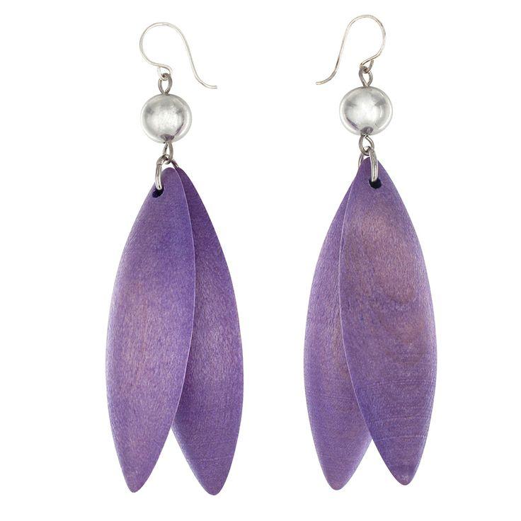 Aarikka - Earrings : Jalava earrings, lila