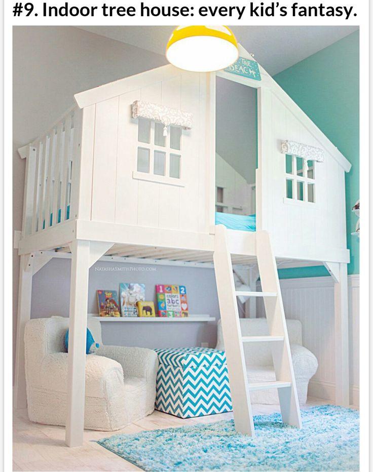 kinder strandhaus design mit hochbett hnliche tolle projekte und ideen wie im bild vorgestellt findest du auch in unserem magazin - Coolste Etagenbetten Mit Schreibtisch