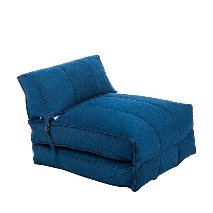 Slaapbank Caneva - stof - blauw