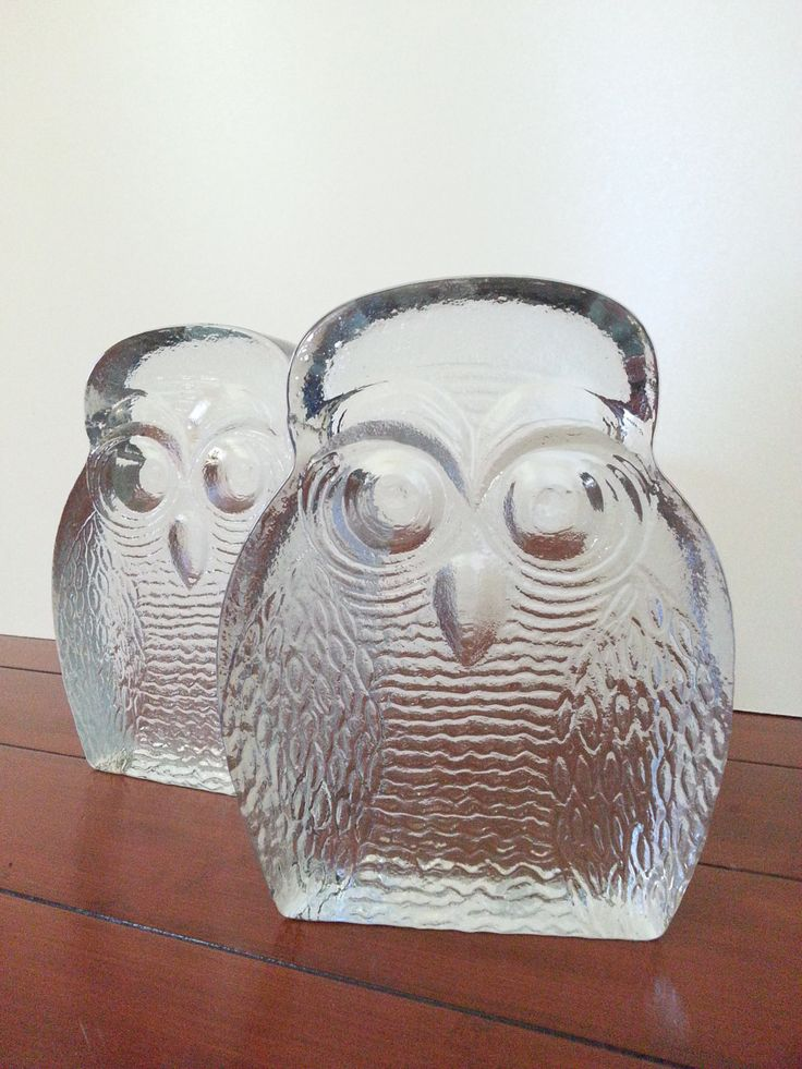 Strikingly Idea Bird Bookends. Glass Bookends  Pair of Vintage Blenko Art Owl Sculpture 60 best From The Past images on Pinterest Decal Tumbler