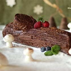 Photo recette : Bûche de Noël à la crème au beurre