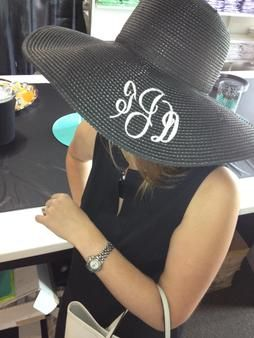 Monogrammed Floppy Hat perfect for Carolina Cup & Derby Days