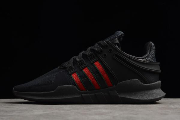 brand new 17674 0a80a Mens adidas EQT Support ADV Black Scarlet Collegiate Green BB6777
